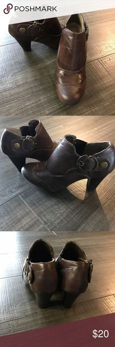 NICOLE booties used but good condition! Nicole brown booties Shoes Ankle Boots & Booties