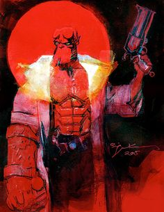 bear1na: Hellboy by Bill Sienkiewicz *