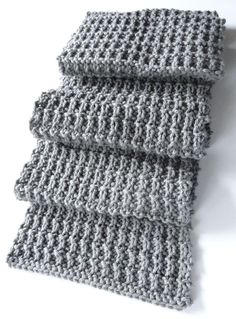 Ridge Rib Men Scarf 2 - Purl Avenue free pattern in worsted Mens Scarf Knitting Pattern, Crochet Mens Scarf, Easy Knitting, Crochet Scarves, Loom Knitting, Knitting Patterns Free, Knit Crochet, Crochet Patterns, Crochet Hats