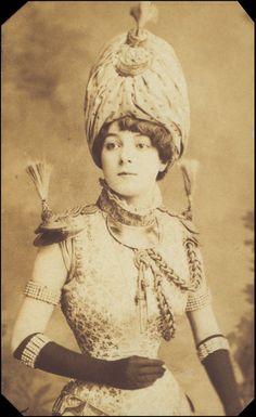 Vesta Tilley as Captain Tra-La-La in Drury Lane's 'Sinbad the Sailor', 1882.  VandA Collection, Guy Little Theatrical Photographs.