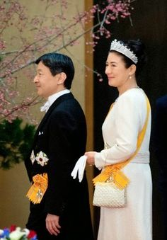 Japanese Crown Prince Nahurito and Crown Princess Masako attend a State Dinner for the Dutch King and Queen at the Imperial Palace in Tokyo, Japan, 29.10.2014.