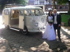 so get married then hit the road.  i love this!  even how the van is weddingy
