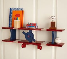 Airplane Shelf | Pottery Barn Kids for Baby Boy's Airplane Nursery Room