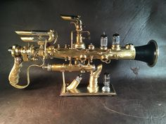 Steampunk Gun Blunderbuss Ray Gun by MichaelStephensArt on Etsy