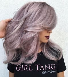 2017 Layered Haircuts and Hairstyles for Long Hair - New .- 2017 Layered Haircuts and Hairstyles for Long Hair hairstyles # 2017 - Lavender Hair, Lilac Hair, Pink Grey Hair, Hair Color And Cut, Cool Hair Color, Hair Colors, Hair Shows, Layered Haircuts, Hairstyles Haircuts