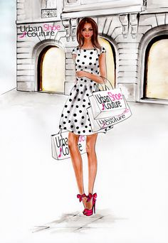 Fashion illustration for Urban Shoe Couture illustrated by Olivia Elery