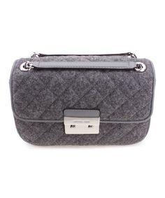 Look at this #zulilyfind! Gray Sloan Quilted Wool-Blend Shoulder Bag #zulilyfinds