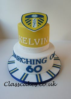 Cakes baked and decorated to order 6th Birthday Cakes, 60th Birthday, Birthday Parties, Leeds United Football, Uk Football, 21st Cake, 30th Party, Cake Tutorial, No Bake Cake