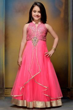 Now girls of age 3- 15yrs can get their Indian fashion at ‪#‎aishwaryadesignstudio‬ 's exclusive children collection! Get it online too - http://www.aishwaryadesignstudio.com/kids%20wear/18117-flamboyant-pink-color-net-fabric-gown.aspx