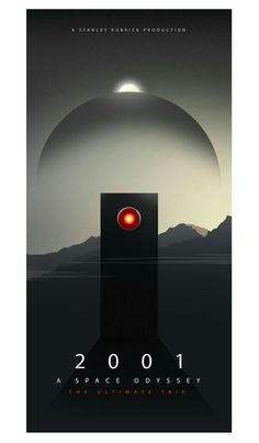 I recently watched A Space Odyssey for the very first time and was completely blown away. As soon as it was over I was immediately planning a poster to represent it. This poster and my oblivion poster would… Tv Movie, Sci Fi Movies, Good Movies, Space Movies, Disney Movies, Minimal Movie Posters, Cool Posters, Creative Posters, Stanley Kubrick