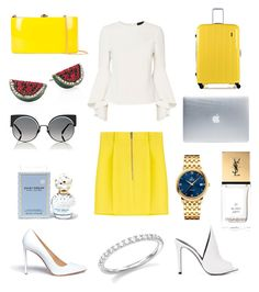 Yellow yes. by janireb on Polyvore featuring polyvore, fashion, style, Exclusive for Intermix, Dsquared2, Francesco Russo, Rocio, Home Decorators Collection, Incase, OMEGA, Bloomingdale's, Marc Jacobs, Fendi, Yves Saint Laurent and clothing