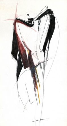 Collections / Woman / Prêt-à-Porter / 1980 / Fall / Winter Fashion Art, Fashion Drawings, Fashion Design Portfolio, Ferrat, Gianfranco Ferre, Fashion Illustration Sketches, Style Inspiration, Abstract, My Style