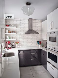 Renovated 50's kitchen before and after.