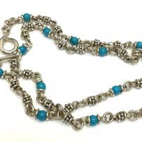 9679c479c Michael Dawkins Michael Dawkins Sterling Silver Turquoise Toggle Necklace  18