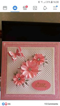 Butterfly Cards, Flower Cards, Pinterest Birthday Cards, Chloes Creative Cards, Stamps By Chloe, Dress Card, Card Designs, Homemade Cards, Cardmaking