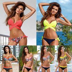 9.38$  Buy here - 2017 Sexy Cross Swimwear Women Bikini Set Bandage Bathing Suit Push Up Bikini 2017 Hot plavky Swimsuit maillot de bain femme   #magazine