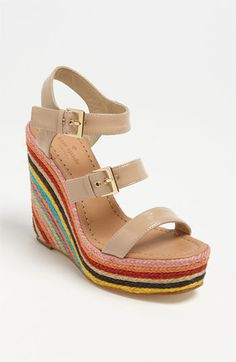 kate spade new york 'lucie' espadrille sandal. Super cute neutral wedge. Perfect for summer!