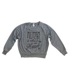 Alpha Chi Omega long sleeve shirt - The Greek Supply www.thegreeksupply.com #thegreeksupply #sorority #alphachiomega