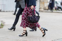 All the Best Street Style Moments from Paris Fashion Week - Printed matter from InStyle.com