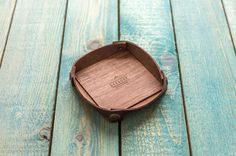 Best Leather tray | Wooden tray | Wallet tray | Desk organizer | Catchall by SKEGGOX on Etsy