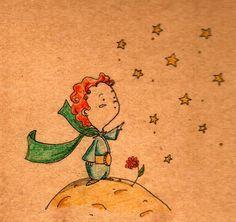 PiccoloPrincipe by IreneMontano on DeviantArt #childhood #childrensillustration #littleprince #roseflower