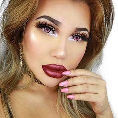 @αυвreyтαтe_ ☾♡ Cosmetic Contact Lenses, All Eyez On Me, Hold Me Tight, Gel Liner, Nyx Cosmetics, Lashes, Blush, Lipstick, Photo And Video