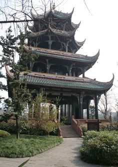 river-viewing-park Chengdu China - #chengdu #attractions #travel #temple  #architecture #traditional