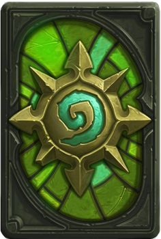 excited to receive this emerald card back at the end of May in Hearthstone.