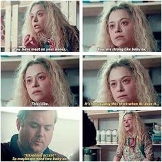 "11 Times Helena From ""Orphan Black"" Was Too Cute To Be A Psychopath I love her so much ❤️ ~Button Black Tv Shows, Tatiana Maslany, New Friendship, Favorite Tv Shows, Movies And Tv Shows, Movie Tv, Fangirl, Actresses, Actors"