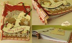 Arte, Artesania y Manualidades: Encuadernación con palos de bambú y scrapbooking Navidad Merry Christmas, Gift Wrapping, Gifts, Arts And Crafts, Tutorials, Creativity, Navidad, Sticks, Paper Wrapping