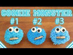 Cookie Monster Cupcakes - Sesame Street - YouTube