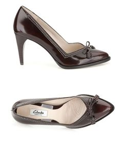 Bordeaux-rote High-Heels im 50er Jahre Stil, auch in schwarz und dunkelgrün erhältlich. Clarks Deeta Bombay, 110,00 Euro: http://www.clarks.de/p/26103884 #HW14