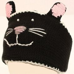Adjustable Winter Lined Headband Headwrap Ski 3D Animal Knit Cat Black with Pink. From #SK Hat shop. List Price: $39.95. Price: $17.95
