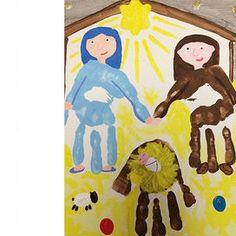 Un modo creativo di dipingere un piccolo presepe fai da te e anche un lavoretto da conservare per ricordare l Christmas Art For Kids, Holiday Crafts For Kids, Preschool Christmas, Christmas Activities, Preschool Crafts, Diy For Kids, Christmas Diy, Children's Church Crafts, Jesus Crafts