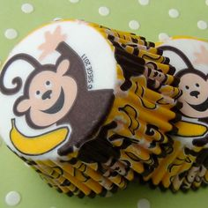 Monkey Business Cupcake Liners