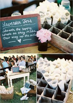 Lavender Toss....must be very evocative each time you smell lavender after your wedding day :o)