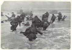 [American Troops Landing on D-Day, Omaha Beach, Normandy Coast, France] - by Robert Capa, 1944 Metropolitan Museum of Art  1987.1100.501