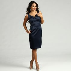 @Overstock - This sleek dress from London Times features elegant ruche detailing which highlights a trendy empire waistline. Pleat detailing complements the V-neck of this fashionable dress.http://www.overstock.com/Clothing-Shoes/London-Times-Womens-Dress/6980601/product.html?CID=214117 $44.99