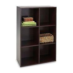 6 Cube Organizer Stackable Storage Furniture Shelving Home Shelf Cabinet Decor