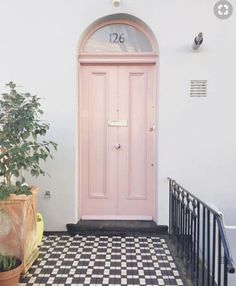 Like a good lipstick, your front door colour can freshen up and lift the whole facade of your home. Here's our front door favourite five. House Front Door, House Numbers, House, Home, House Front, House Exterior, Exterior House Colors, Doors Interior, Pink Front Door