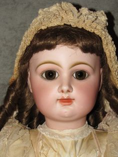 """32"""" Rabery & Delphieu French Bebe~Paperweight Eyes~CM~Gaultier/Jumeau Style Face"""