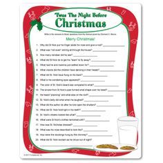 Twas the Night Before Christmas on Pinterest | Night, Christmas Trivia ...