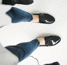 Minimal + Classic: patent Repetto loafers