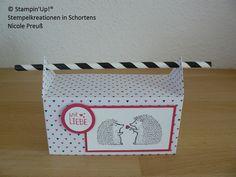 Verpackung, Strohhalmbox, Pink mit Pep, Igel, Love you lots, Stampin Up