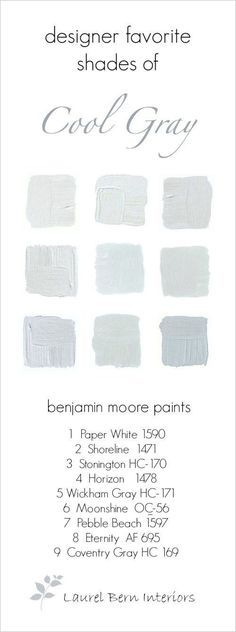 9 Fabulous Benjamin Moore Cool Gray Paint Colors - laurel home