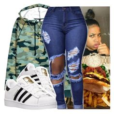 """""""adidas"""" by daradior ❤ liked on Polyvore featuring H&M, MICHAEL Michael Kors, Sterling Essentials and adidas"""