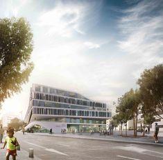 Proposta vencedora para o edifício da Faculdade Técnica / 3XN