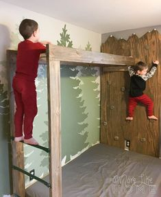 DIY Mountain Climbing Rock Wall (im Jungenzimmer) . - DIY Mountain Climbing Rock Wall (im Jungenzimmer) … DIY Mountain Climbing Rock Wall (im Jungenzimmer) Kids Bedroom, Bedroom Decor, Trendy Bedroom, Decoration Restaurant, Modern Laundry Rooms, Laundry Room Cabinets, Toy Rooms, Kids Rooms, Baby Room