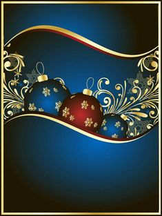 Christmas Background Blue and Gold