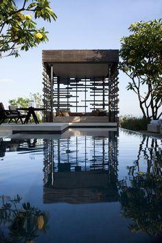 Alila Villas Uluwatu Bali - One Bedroom Pool Villa - Exterior Of the Cabana Landscape Architecture, Landscape Design, House Architecture, Architecture Interiors, Resorts, Exterior Design, Interior And Exterior, Outdoor Spaces, Outdoor Living